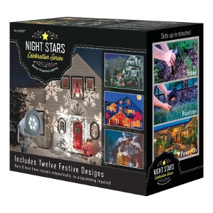 Night Stars LED Lightshow Holiday Icon Motion Projector