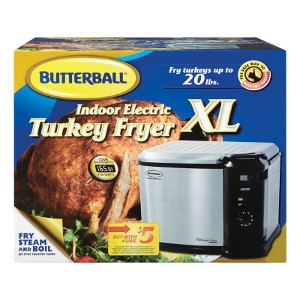 Masterbuilt Butterball 20lb Electric Indoor Turkey Fryer
