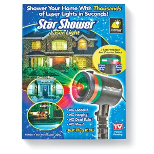 Telebrands Star Shower Plug In Laser Light Projector