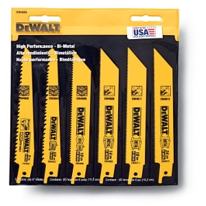 DeWalt Bi-Metal Reciprocating Saw Blade 6 Pack