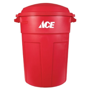Ace 32 Gallon Plastic Garbage Can