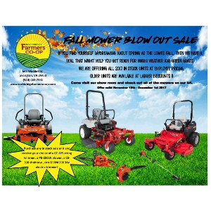 Fall Mower Blowout Sale