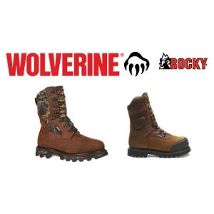 20% Off Non-insulated Rocky & Wolverine Boots