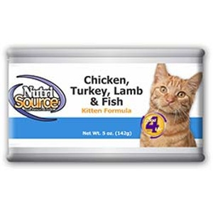 NutriSource Chicken, Turkey, Lamb & Fish Kitten Can Formula