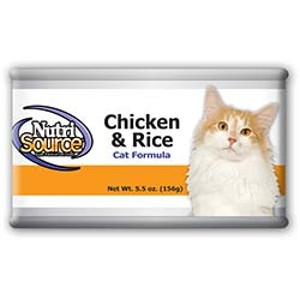 NutriSource Chicken and Rice Cat Canned Formula