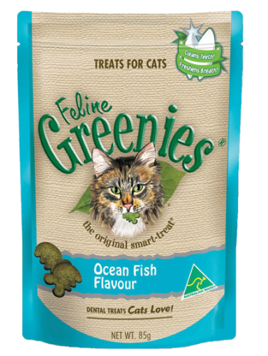 Feline Greenies Dental Treats Ocean Fish, 2.5 oz.