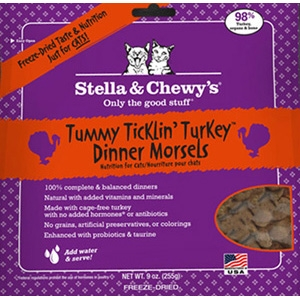 Tummy Ticklin Turkey Freeze Dried Cat Dinner Morsels, 3.5 oz