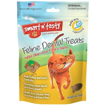 Smart n' Tasty Turducky Dental Cat Treats, 3 oz.