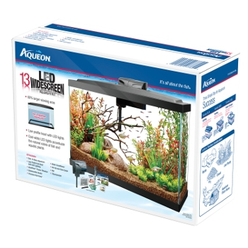 Aqueon Widescreen 13 Gallon LED Aquarium