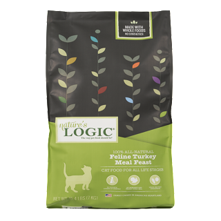 Nature's Logic Feline Dry Kibble, Turkey Formula, 15.4#
