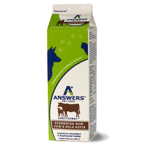 Answers Pet Food Raw Cow's Milk Kefir