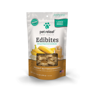 Pet Releaf Peanut Butter Banana Large Breed Edibites