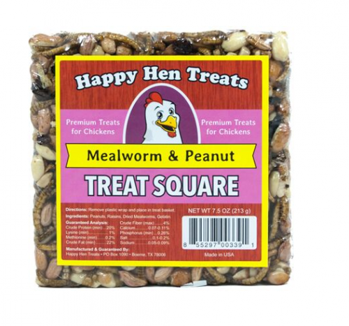 Happy Hen Treat Square, Mealworm and Peanut