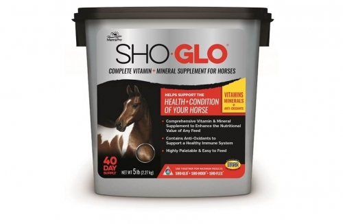 Sho-Glo Complete Vitamin and Mineral Supplement for Horses, 5 pound