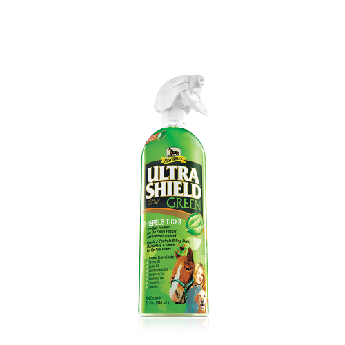 Absorbine Ultra Shield Green Fly Spray for Horses, 32 ounce