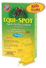 Equi-Spot Spot-On Fly Control for Horses, 6 week supply
