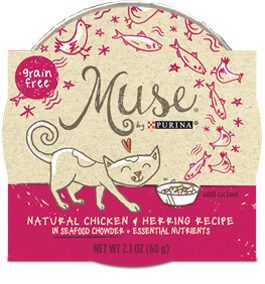 Muse Natural Chicken & Herring Recipe in Seafood Chowder, 2.1 ounce
