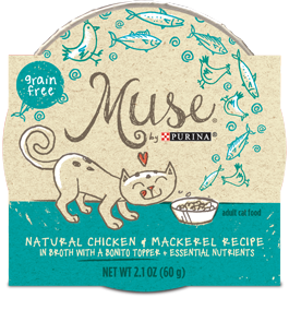Muse Natural Chicken & Mackerel Recipe with Bonito Topper, 2.1 ounce