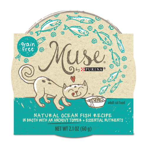 Muse Natural Ocean Whitefish Recipe with Anchovy Topper, 2.1 ounce