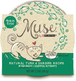 Muse Natiral Tuna & Sardine Recipe in Fish Broth, 2.1 ounce