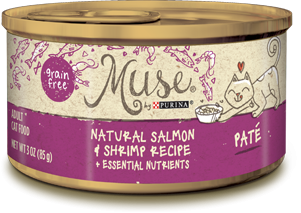 Muse Natural Salmon & Shrimp Recipe Pate, 3 ounce