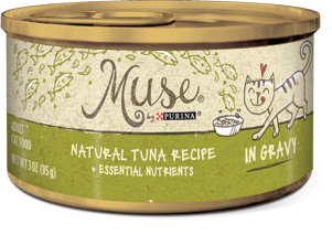 Muse Natural Tuna Recipe in Gravy, 3 ounce