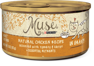 Muse Natural Chicken, Carrot & Tomato Recipe in Gravy, 3 ounce