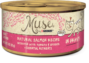 Muse Natural Salmon, Tomato & Spinach Recipe in Gravy, 3 ounce