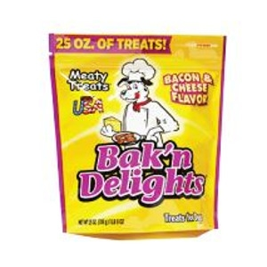 Bak'n Delights Bacon & Cheese Flavor Dog Treats, 25 oz