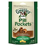 Greenies Pill Pockets Capsule Peanut Butter Flavor, 7.9 pounce bag
