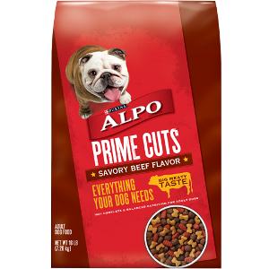 Alpo Prime Cuts Savory Beef Flavor Dog Food