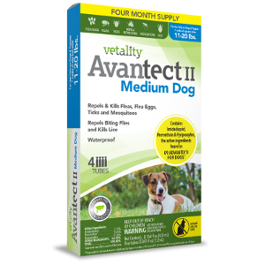Vetality Avantect II Medium dog, 4 month supply