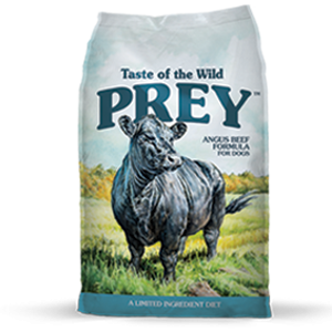 Taste of the Wild Prey Angus Beef Formula Dog Food, 8 and 25 lb. bags