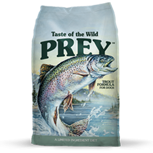 Taste of the Wild Prey Trout Formula Dog Food, 8 and 25 lb. bags