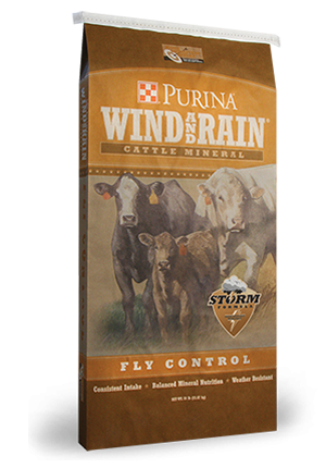 Wind & Rain Fly Control Cattle Mineral