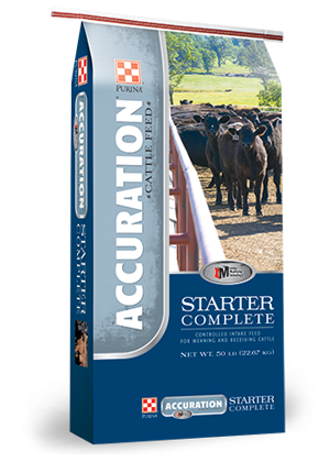 Accuration Starter Complete Cattle Feed, 50 pound bag
