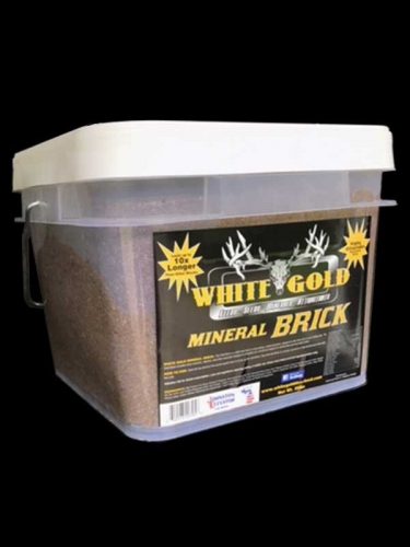 White Gold Mineral Brick, 25 pound tub