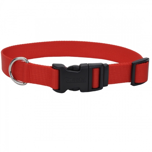 Adjustable Dog Collar with Plastic Buckle