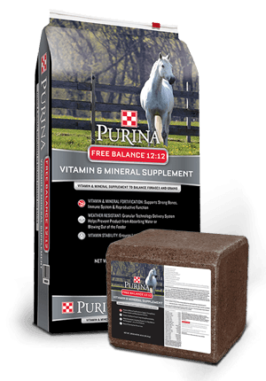 Purina Free Balance 12:12 Horse Supplement, 25 pound bag/40 pound block