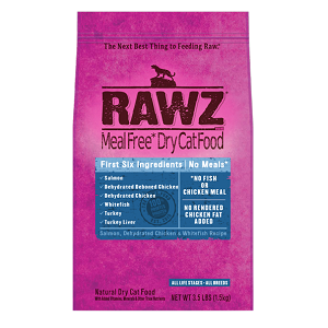 RAWZ Salmon, Dehydrated Chicken & Whitefish Recipe Cat Food