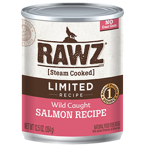 RAWZ Steam Cooked 96% Salmon Recipe Dog Food