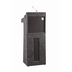 Lectern base with speakers