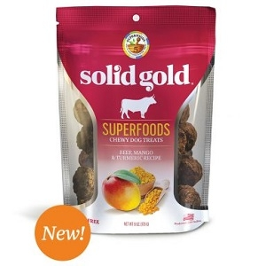 Solid Gold Superfoods Chewy Dog Treats Beef, Mango & Turmeric Recipe