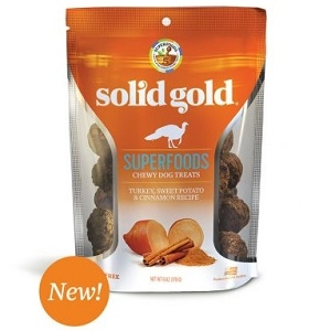 Solid Gold Superfoods Chewy Dog Treats Turkey, Sweet Potato, & Cinnamon Recipe