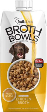 Fruitables Broth Bowls Chicken Dog Food Topper