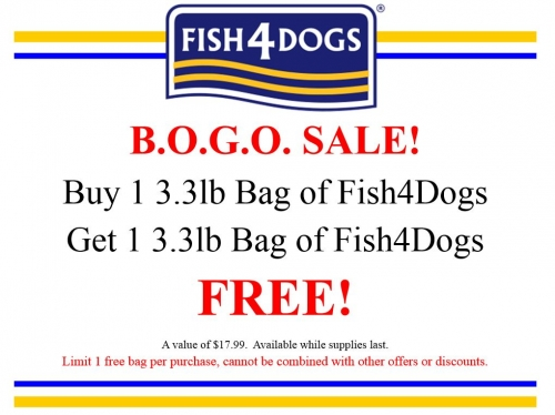 Fish 4 Dogs BOGO Sale