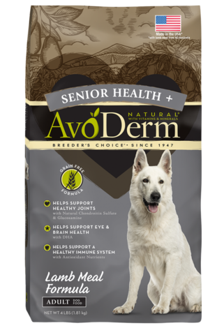 Avoderm Senior Health Grain Free Lamb Meal Formula
