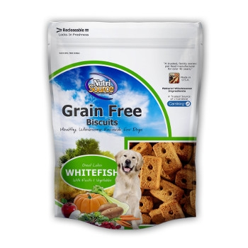 NutriSource® Grain Free Great Lakes White Fish Dog Biscuits
