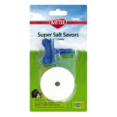 Kaytee Super Salt Savors with Holder, Natural