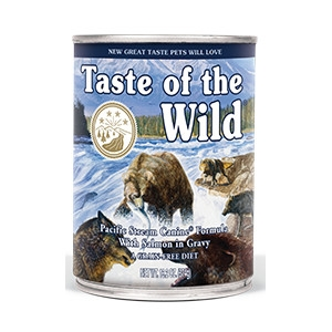 Taste of the Wild Pacific Stream Canine Canned Formula with Salmon in Gravy 13.2oz